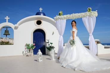 Santorini landscapes for outside ceremonies,